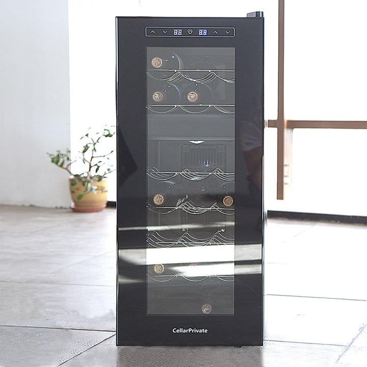 Винный шкаф двухзонный на 21 бутылок Cellar Private CP021-2T