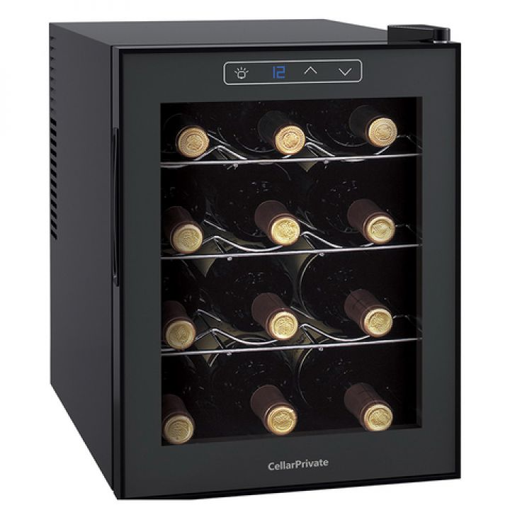 Винный шкаф однозонный на 12 бутылок Cellar Private CP012