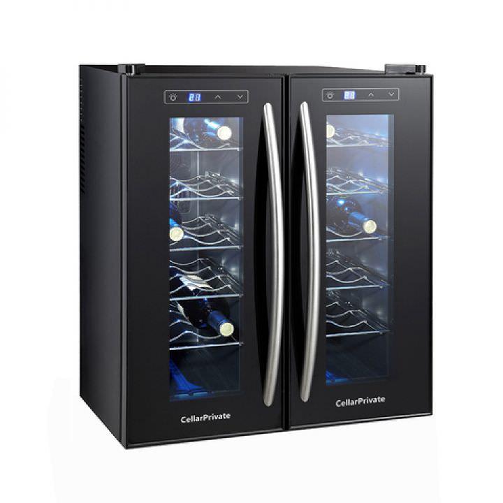 Винный шкаф на 24 бутылки двухзонный Cellar Private CP024-2T