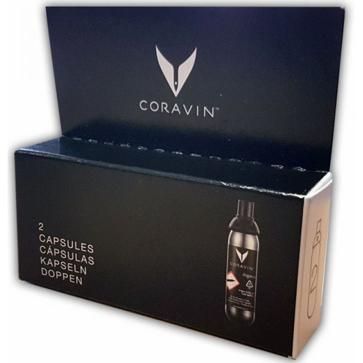 Упаковка из 2-х капсул с газом Аргон для Coravin