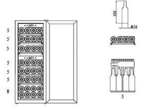 Каких размеров бывают винные шкафы?